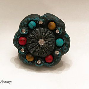 Stone Deco Flower Ring
